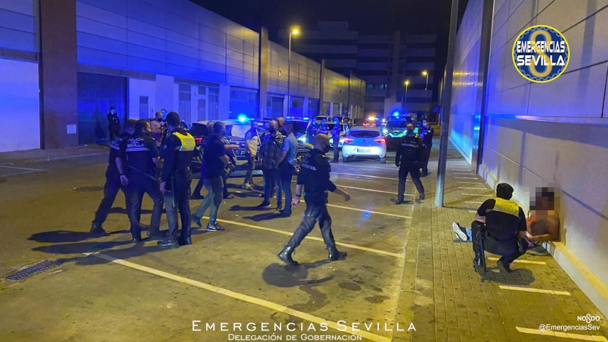 Intervención de la Policía tras la agresión / ES