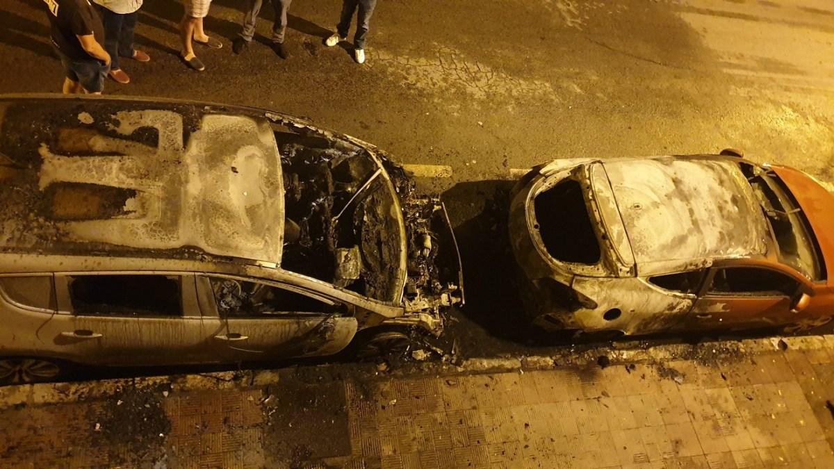 coches quemados en Pío XII