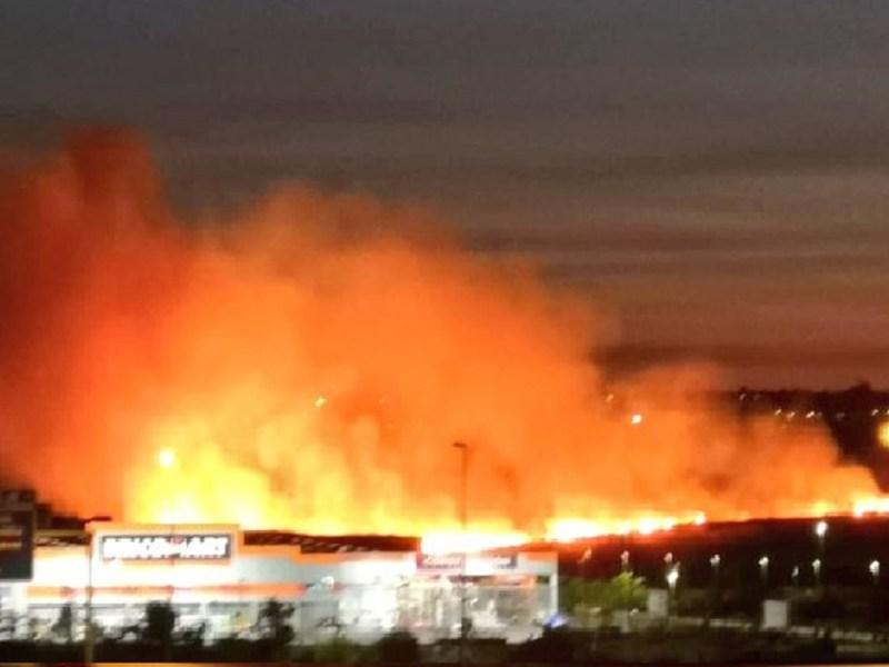 Incendio en Bormujos