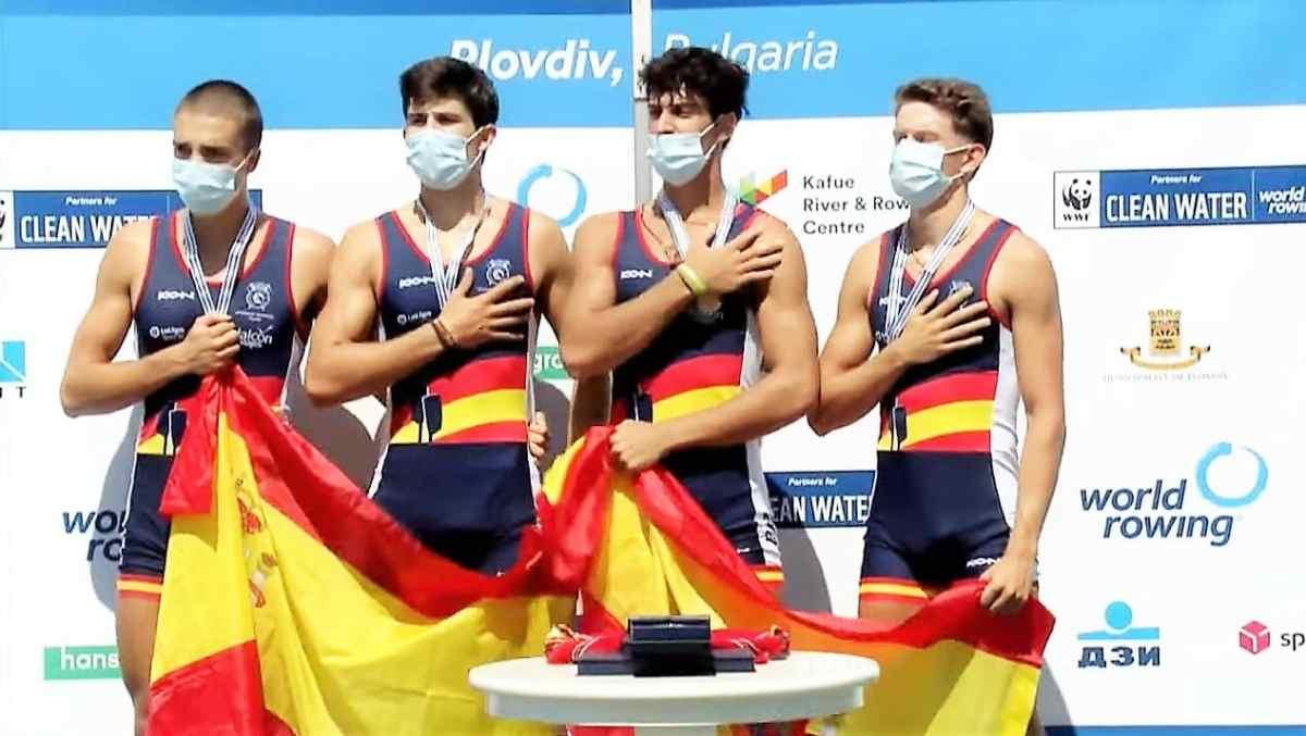 Pastor, Palomino, Moreno y Knabe, en el podio / Federación