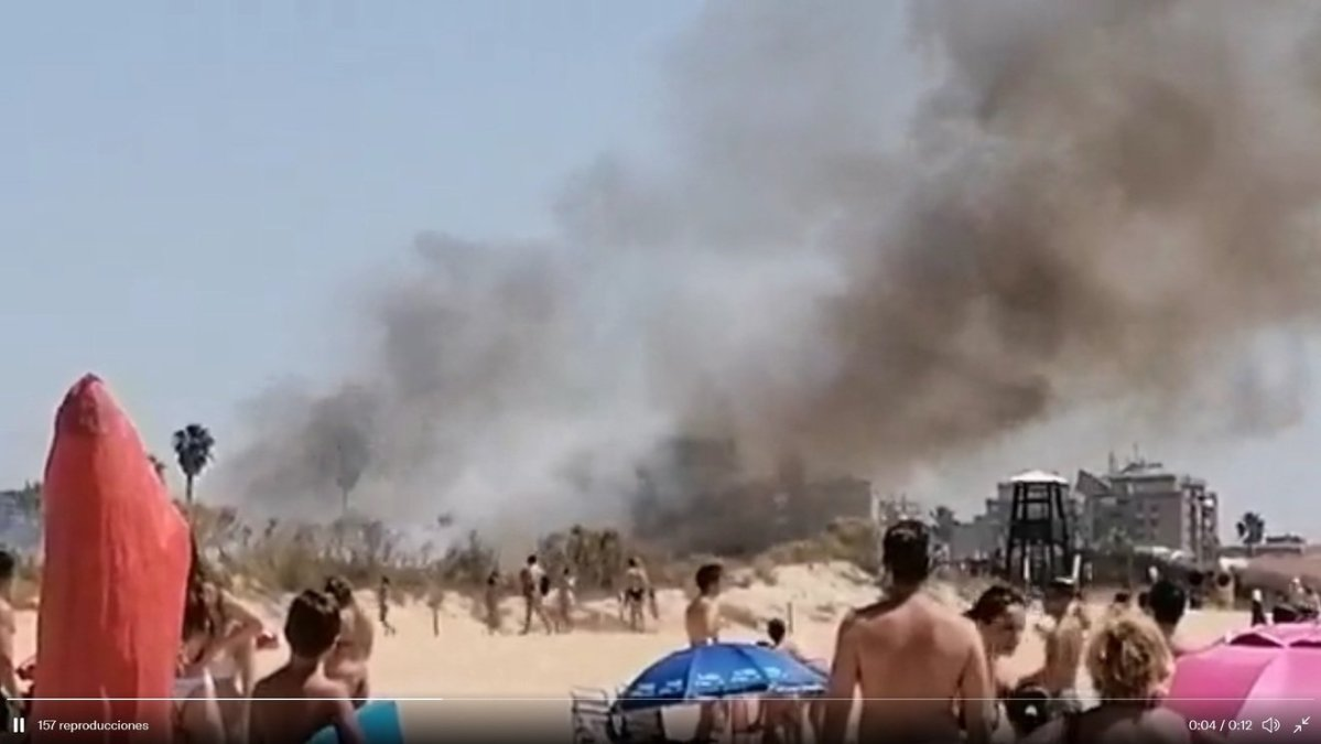 Incendio en Islantilla / RRSS