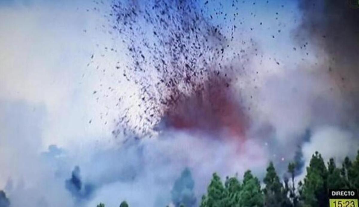 Erupción en La Palma / TV Canarias