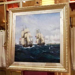 """La marina del artista """"Pabellones hermanos"""""""