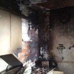 La Guardia Civil rescata con vida a una mujer del incendio de su vivienda