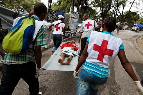 Voluntarios de Cruz Roja en Haití.