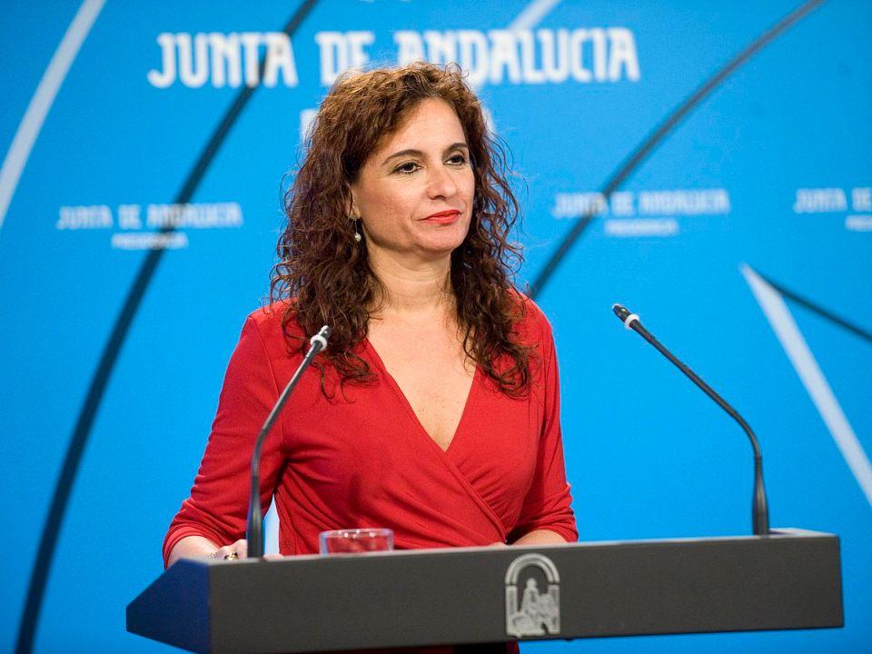 La consejera de Economía y Hacienda, María Jesús Montero