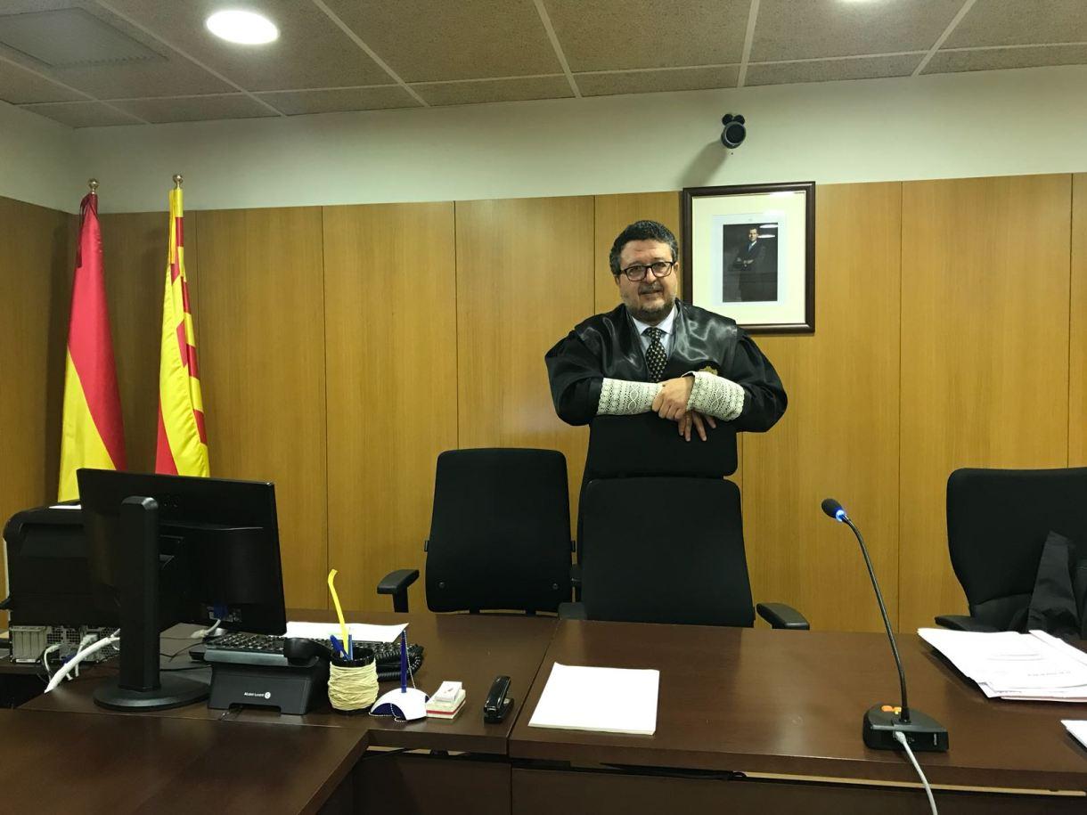 El juez Serrano ha estado cuarenta días al frente del Juzgado de Familia de Badalona.