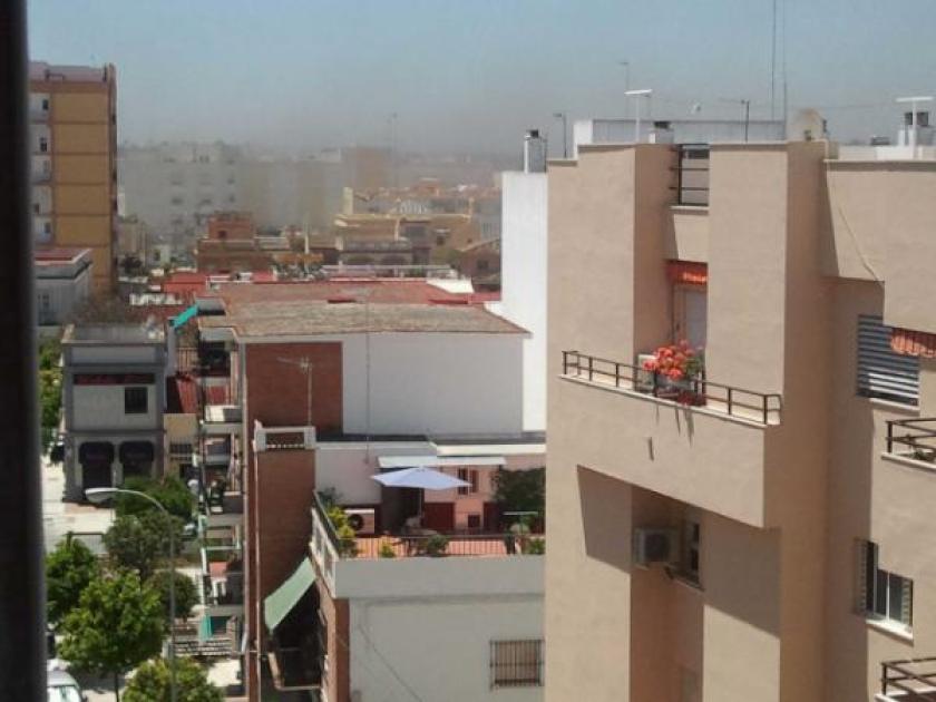 Nubes de mosquítos sobre Sanlúcar. Foto: @Juanveraz