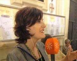 Charo Padilla, primera mujer  pregonera de la Semana Santa de Sevilla