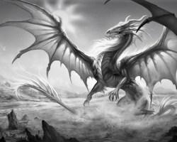 El guerrero, las doncellas y el dragón