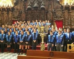 Concierto del Coro Brahmsdel Colegio Internacional Europa en el AuditorioGlobal Omniumdel Acuario de Sevilla