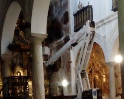 Obras en la iglesia de la Misericordia