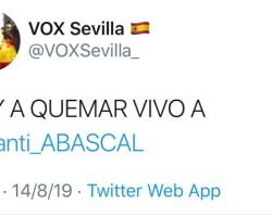 Hackeo masivo a las cuentas de Twitter de VOX. Amenazas de muerte a Santiago Abascal