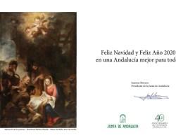 Un Belén en la felicitación de Navidad de la Junta de Andalucía
