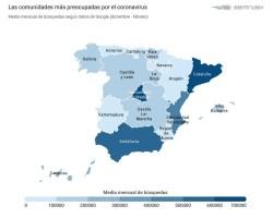 La alarma por el coronavirus en España crece un 760.900% en tan solo tres meses