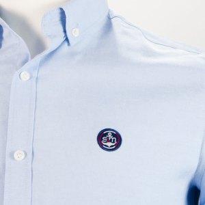 Sevillano y Molina - Camisa Semientallada Celeste
