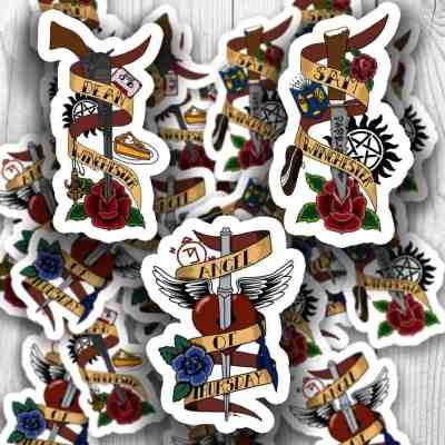Supernatural Tattoo Stickers
