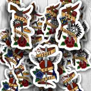 Supernatural Tattoo Stickers
