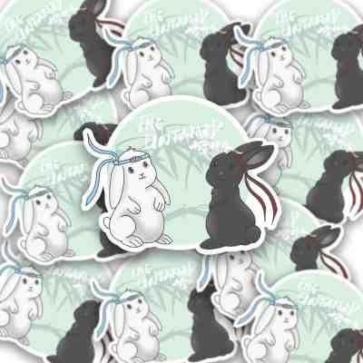 The Untamed Bunny Sticker