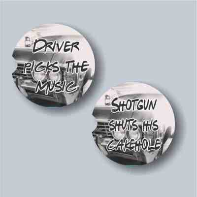 Driver Picks the Music Car Coaster Set