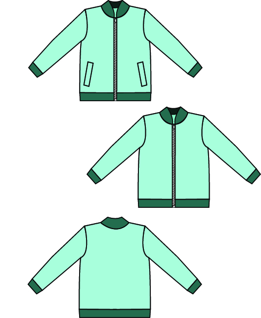 Children\'s Ollie Bomber Jacket PDF Pattern - Sew a Little Seam
