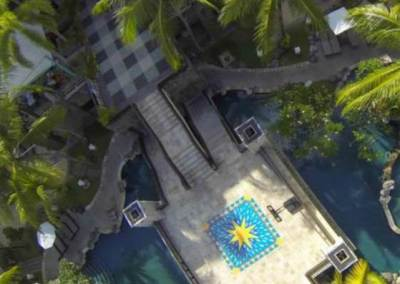 Paradiso Kuta Hote Pool View From Top