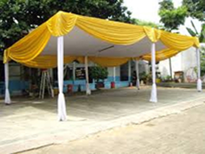 tenda semi dekor gold