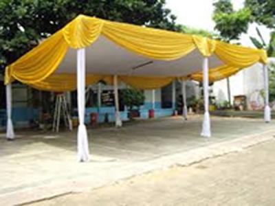 tenda semi dekor gold