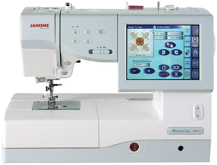 A computerized sewing machine