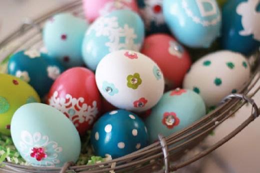 easter eggs metalic