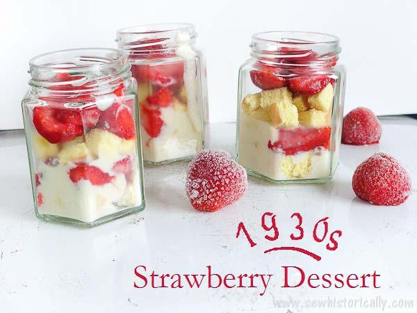 1930s Strawberry Dessert Recipe