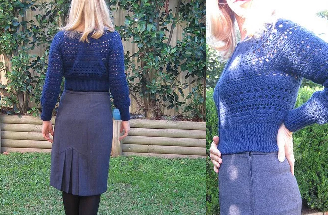 Refashioning: McCalls 5523, Simplicity 9825 and Drops Design Crochet Cardigan