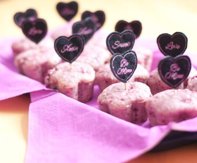 Partysticker auf Muffins