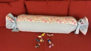 Homemade Roll Pillow Cover Candy Style