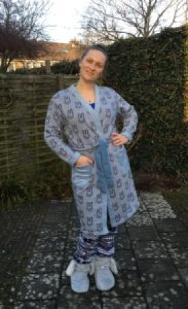 Rabbit Fabric Morning Robe