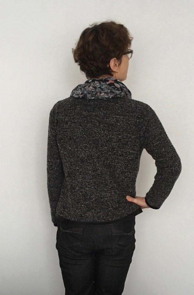 Zwart-Wit boucle vestje