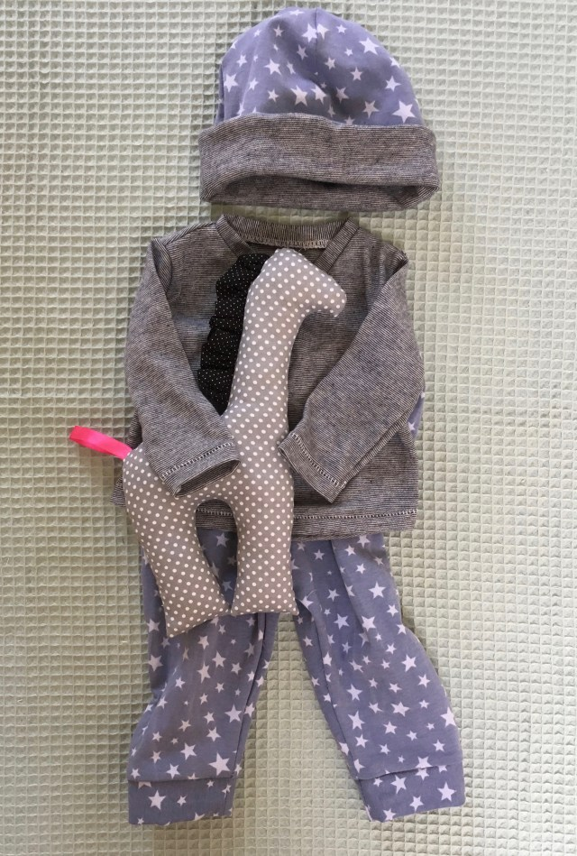 Homemade baby boy outfit size 50