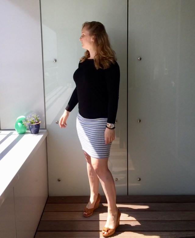 Stretch structure fabric Homemade pencil skirt