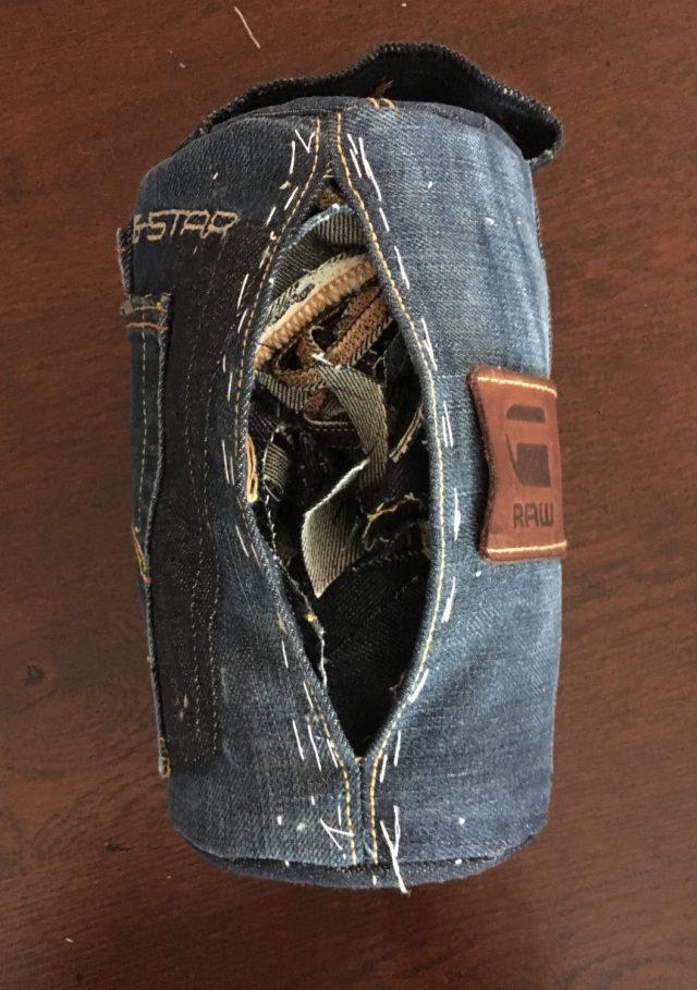 jeans deurstopper met vulling