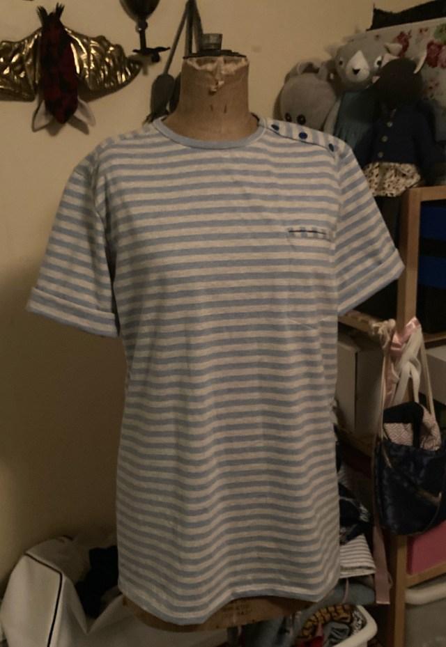 Heren T-Shirt met schouderknopen