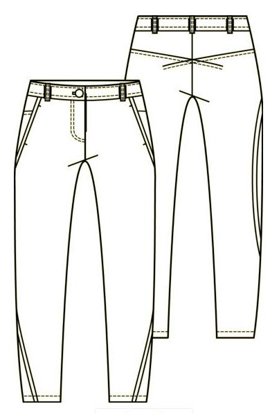 technische tekening jeans