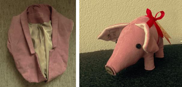 varken van oud roze suède blazer