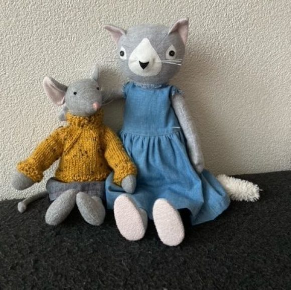 Clementine the cat and Maileg look-a-like mouse