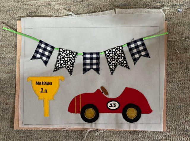 Verjaardagskaart van stof voor een F1-fan
