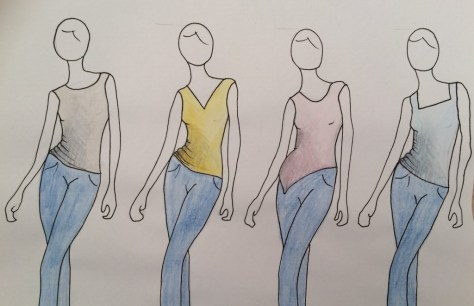 Sewing Avenue - Sleeveless top sketch