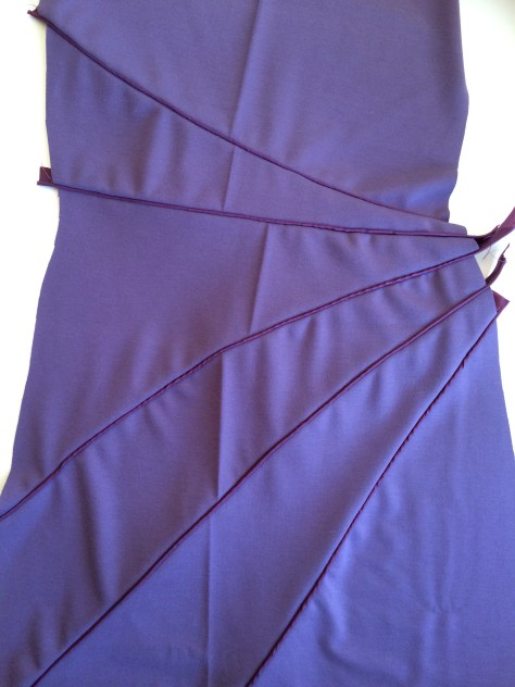Front of dress with piping detail