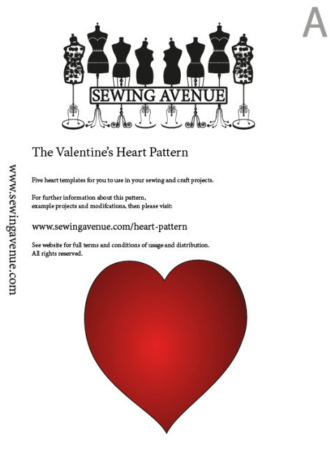 Heart Sewing Pattern - PDF Download