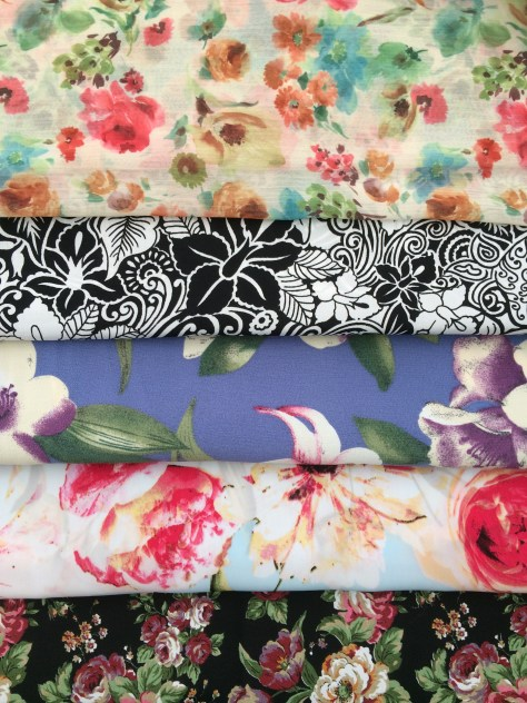 My floral fabric stash