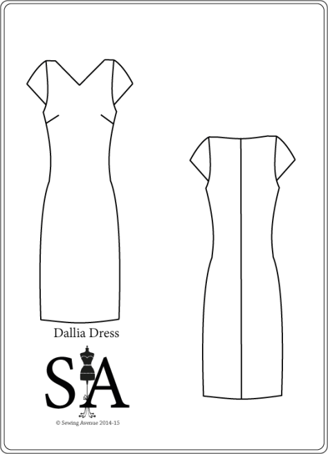 Dallia Dress Pattern - Fashion Flat