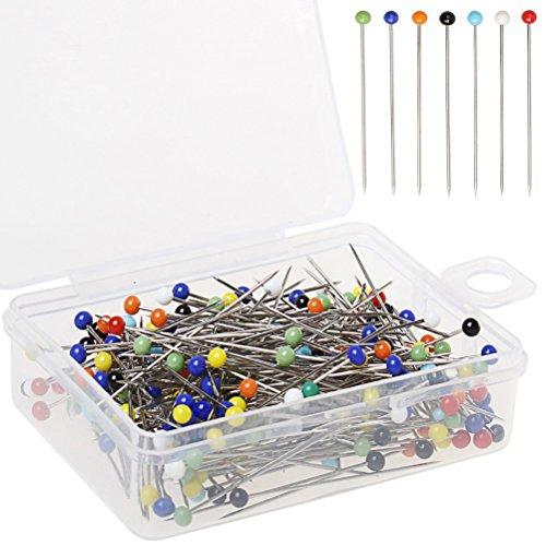 Color Scissor Glass Head Pins